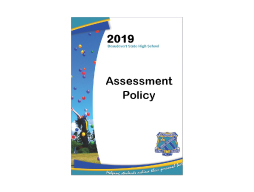 Assessment Policy uploaded